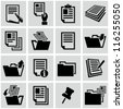 Document icons - stock