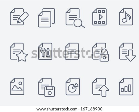 Document icons - stock vector