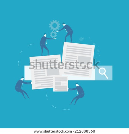 Document management  - stock vector