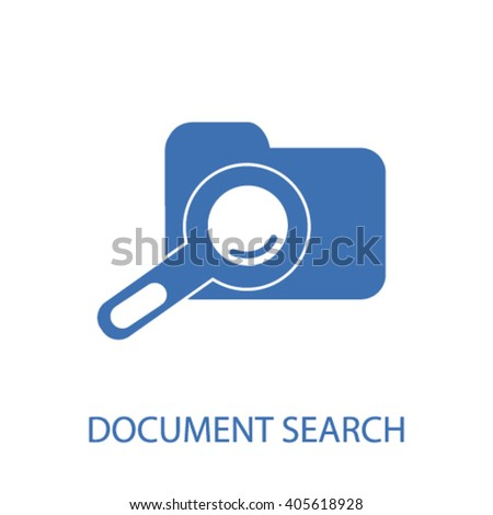 document search icon  - stock vector