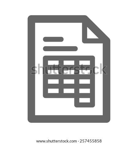 Document web icon - stock vector