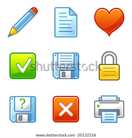 Document web icons, alfa series - stock vector