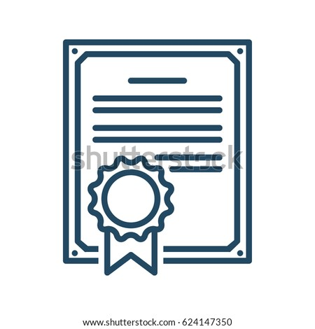 Document Seal Vector Icon Meaning Contract Stock Photo (Photo ...