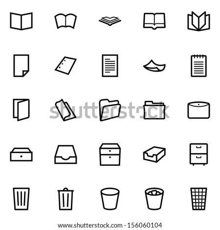 Documents icons - stock vector