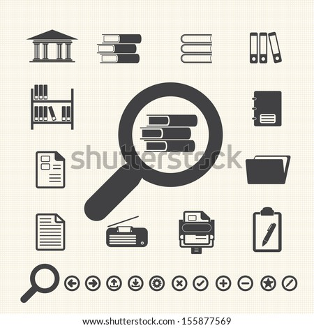 Documents icons library icon vector stock vector 155877569 documents icons and library icon vector ccuart Choice Image