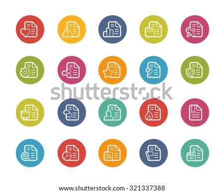 Documents Icons - 2 of 2 // Printemps Series - stock vector