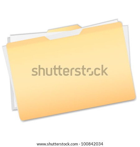 Documents in folder - stock vector