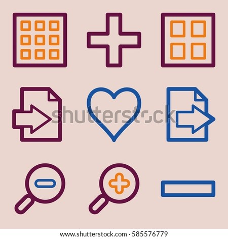 Documents Web Icons Set Office Crm Stock Vector Hd Royalty Free
