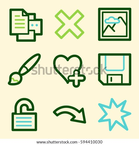 Documents Web Icons Set Office Crm Stock Vector 2018 594410030