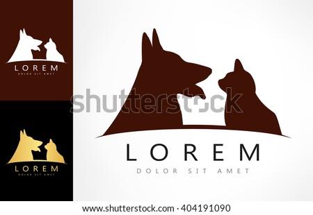 dog cat logo vector stock vector 459182689 - shutterstock