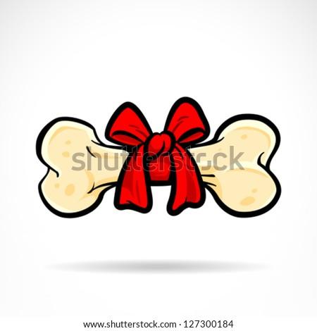 Dog Bone. Vector Illustration - stock vector