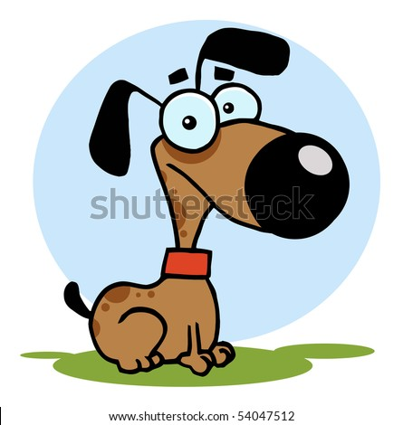 Dog Cartoon Illustration - stock vector