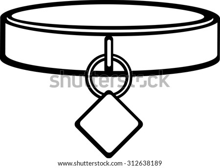 dog collar id tag stock vector 312638189 shutterstock