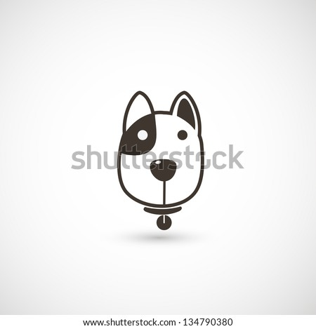 dog icon vector - stock vector