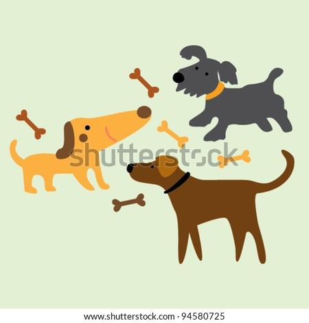 dog illustration - stock vector