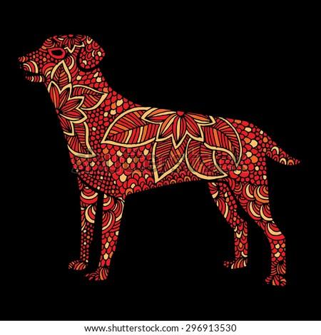 Dog illustration- Chinese zodiac - stock vector