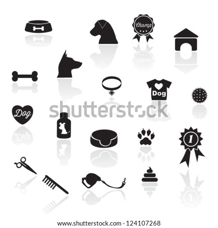 dog ions - stock vector