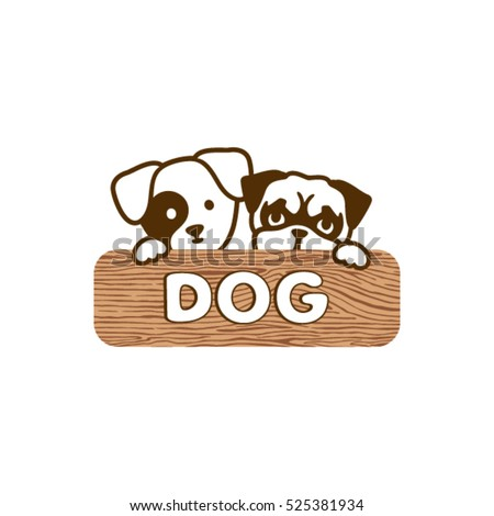 Dog logo template. Pet Shop Logo Design.
