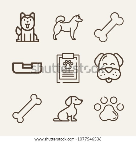 Dog Outline Vector Icon Set On Stock Vector Royalty Free