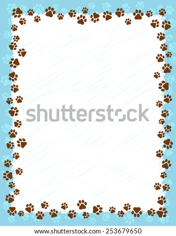 Dog borders and frames - photo#21