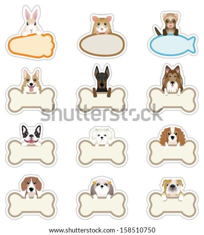 Dog / Pet_Nameplate - stock vector