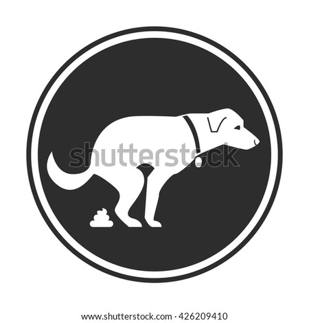 Dog poop sign. Shitting is allowed. Poo poo. Vector stock illustration - stock vector