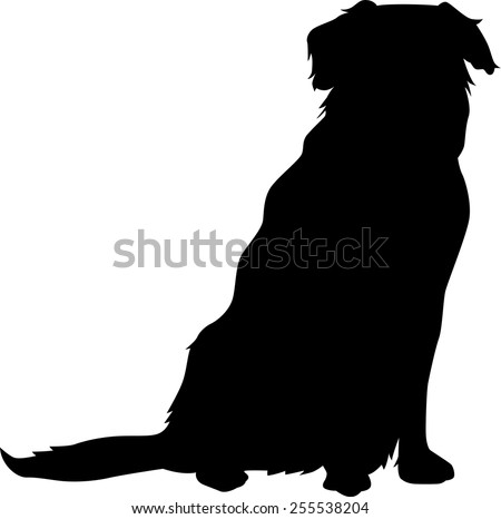 Dog silhouette - stock vector