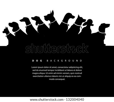 Dog Silhouette Background. EPS 8 vector, grouped for easy editing. No open shapes or paths. - stock vector
