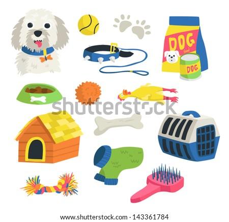 Dog stuff - stock vector