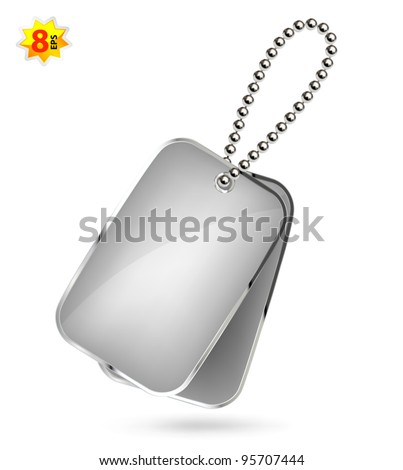 Dog tags isolated on white - stock vector