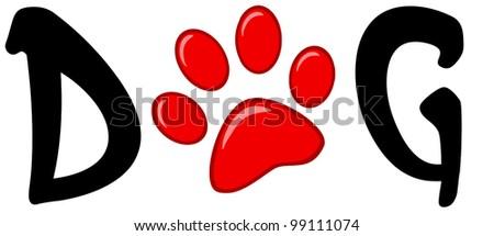 Red dog paw logo - photo#26