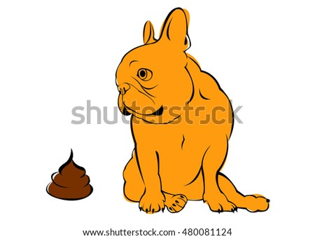 go to the toilet  turd  dog  vector  breed  cute  pet  animal  bulldog   french. Going To The Toilet Stock Images  Royalty Free Images   Vectors