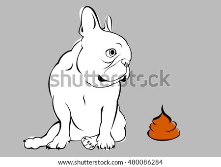 go to toilet  dog  vector  breed  cute  pet  animal  bulldog  french. Going To The Toilet Stock Images  Royalty Free Images   Vectors