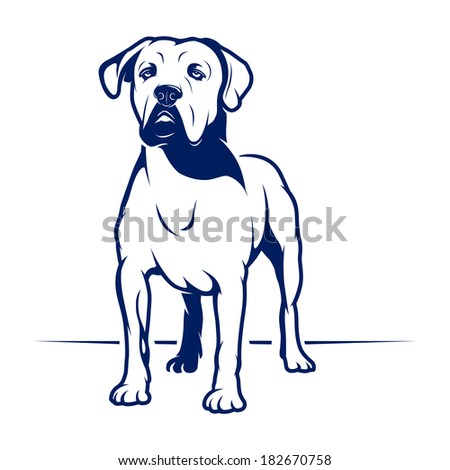 Dog. Vector Illustration - stock vector