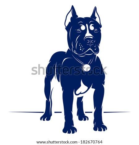 Dog Vector Illustration - stock vector