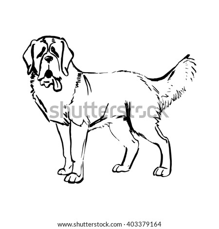 dog vector St. Bernard, the Moscow Watchdog - stock vector