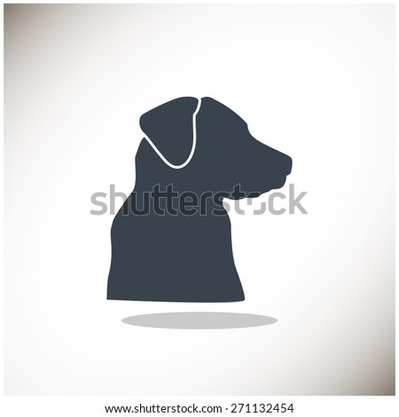 dog, web icon. vector design - stock vector