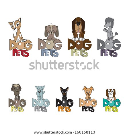 Dogs Group - Isolated On White Background - Vector Illustration, Graphic Design Editable For Your Design