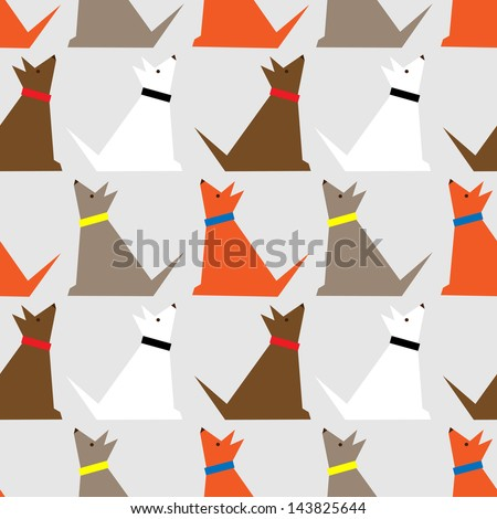 Dogs pattern. - stock vector