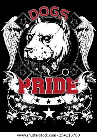 Dogs pride - stock vector
