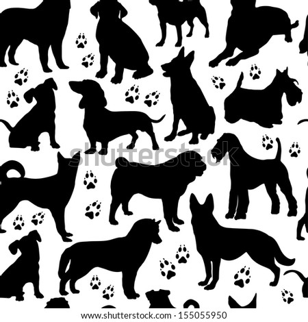 Dogs seamless pattern.