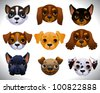 Dogs set - stock vector