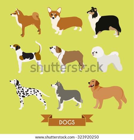 Dogs Vector Design Illustration - stock vector