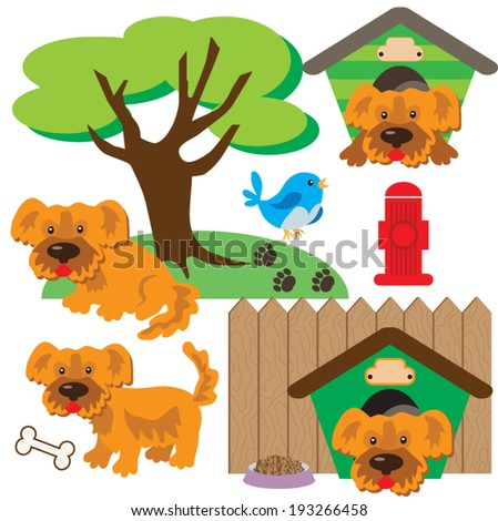 Dogs vector illustration