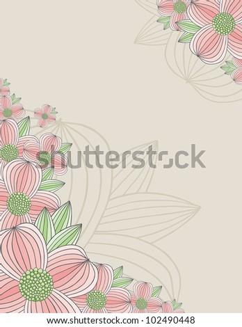 Dogwood Blossom Background - stock vector
