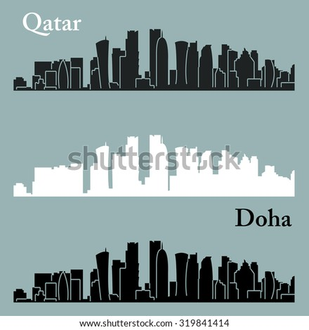 Doha, Qatar - stock vector