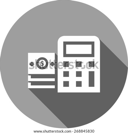 Dollar, bill, calculator, calculation icon vector image. Can also be used for eCommerce, shopping, business. Suitable for web apps, mobile apps and print media. - stock vector