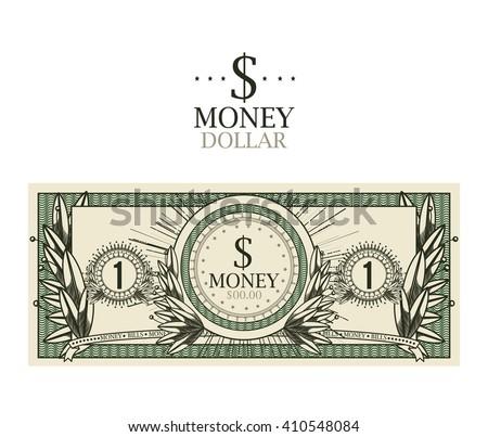 dollar bill  isolated design  - stock vector