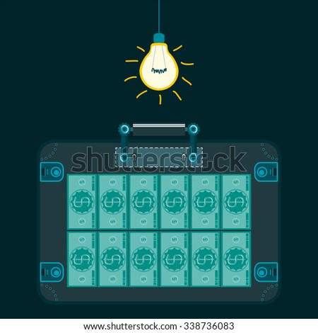 Illustration Light Bulb Dark Room