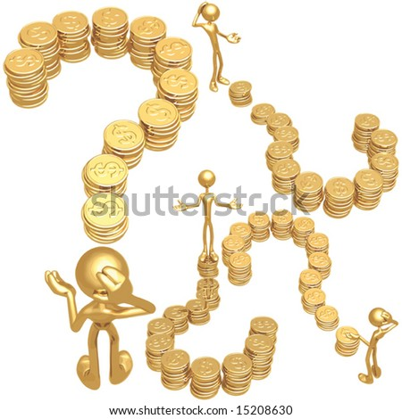 Dollar Coin Question - stock vector